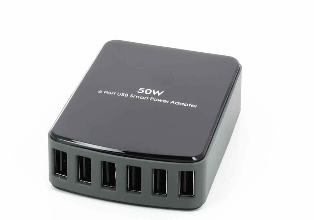 USB laddare 8 portar laddningsstation Multi Port USB laddningshub för flera enheter