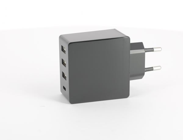 Linocell 4,8 A USB laddare med fyra portar