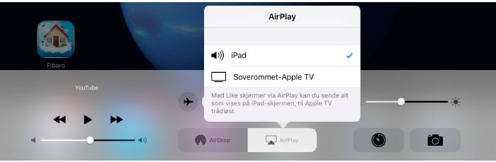 Koble iPhone eller iPad til hjemmekino  