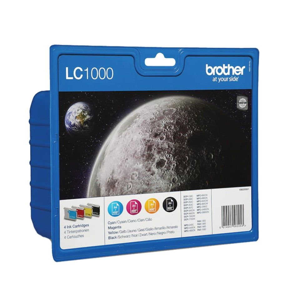 Brother LC1000 Bläckpatron 4-pack