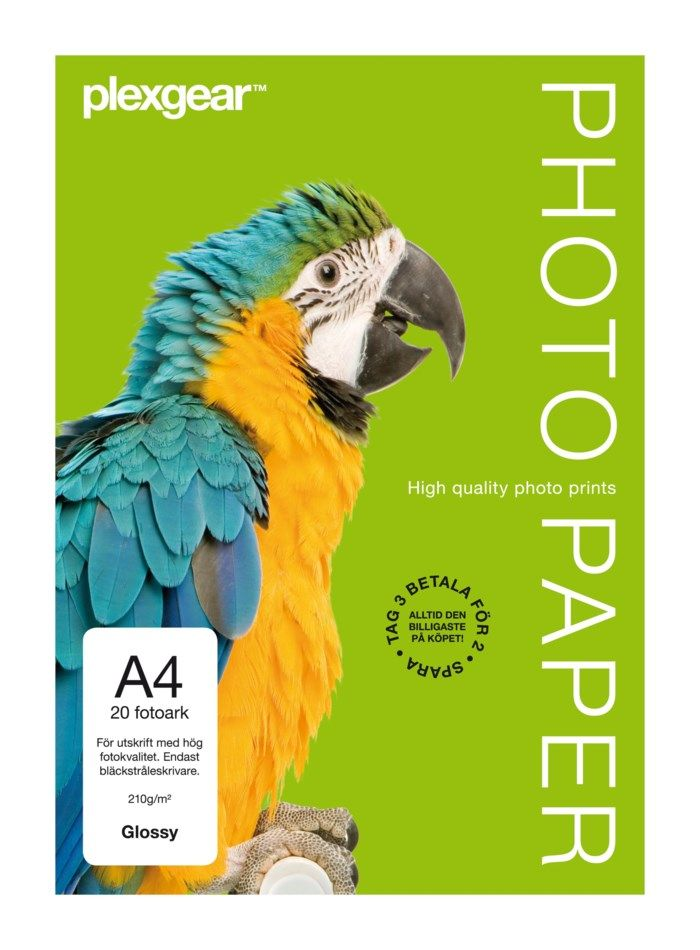 Plexgear Glossy Fotopapper A4 20-pack