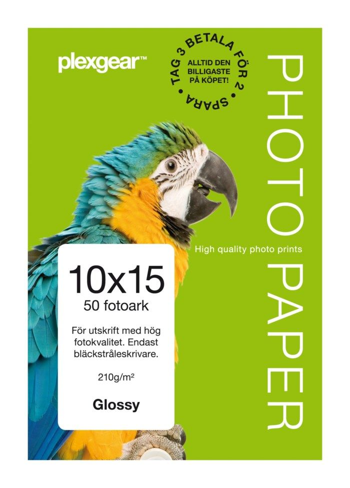 Plexgear Glossy Fotopapper 10x15 cm 50-pack