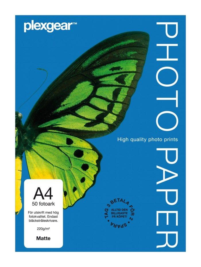 Plexgear Matte Fotopapper A4 50-pack