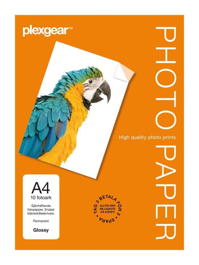 Plexgear Självhäftande fotopapper A4 10-pack
