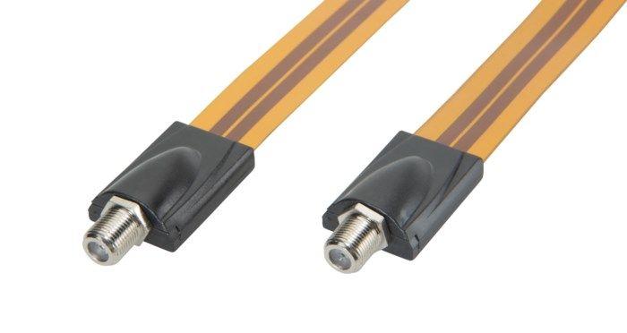 Extra tunn F-kabel för fönstergenomföring