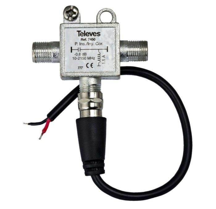 Televes 12 V-ströminjektor för antennförstärkare