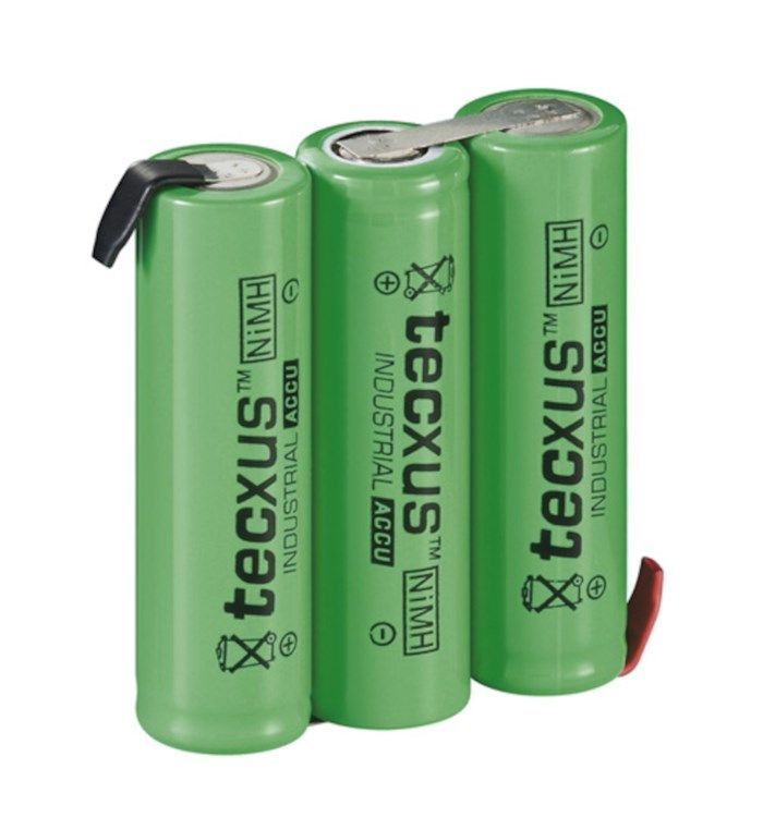 NiMH2 3xAA-batteri 3,6 V 2100 mAh