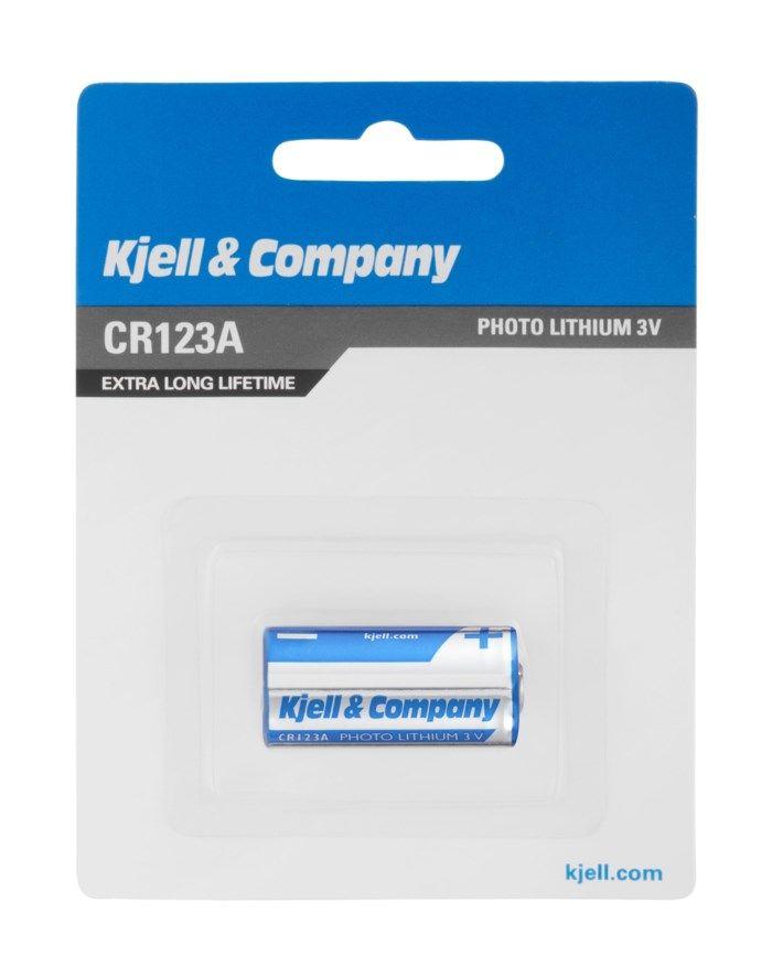 Kjell & Company CR123A Litiumbatteri
