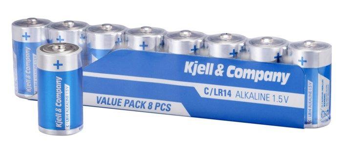 Kjell & Company C-batterier (LR14) 8-pack