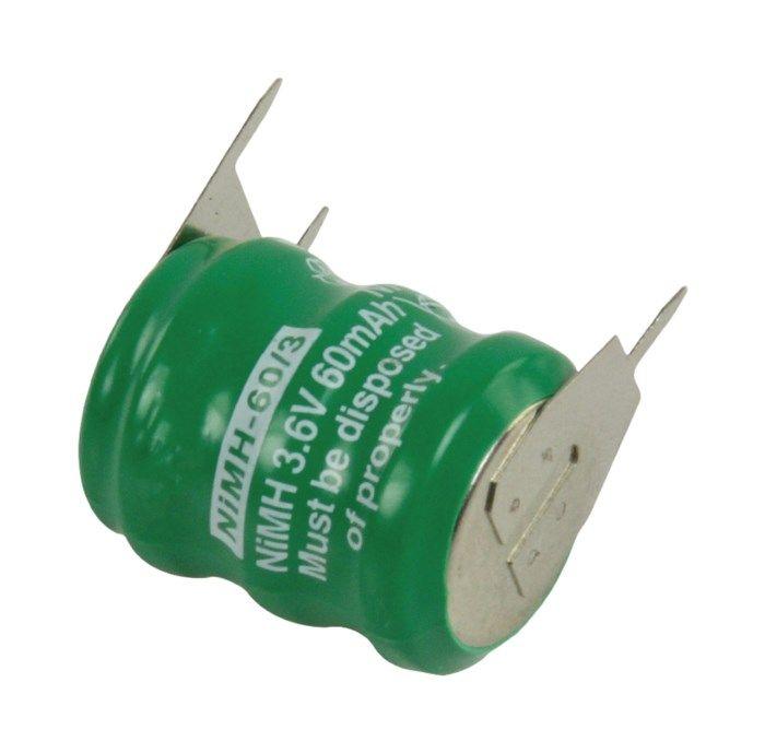NiMH batteri 3,6 V 60 mAh