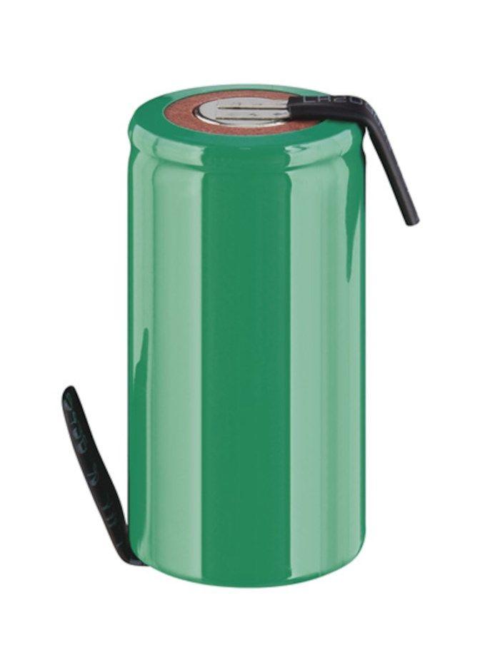 NiMH Sub-C-batteri 1,2 V 3000 mAh