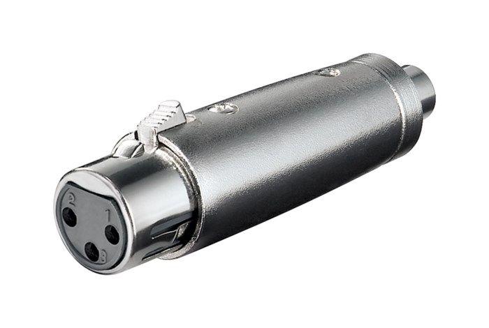 Adapter XLR-hona till RCA-hona