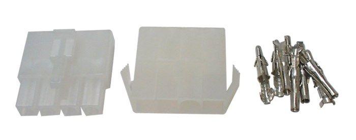 Kontaktpar med snäpplås 4-poligt