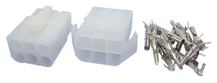Kontaktpar med snäpplås 2x 3-poligt