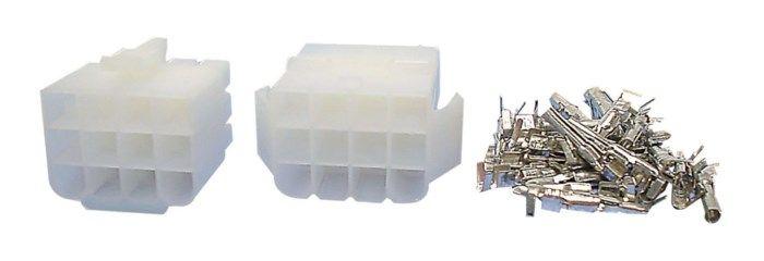 Kontaktpar med snäpplås 3x 4-poligt