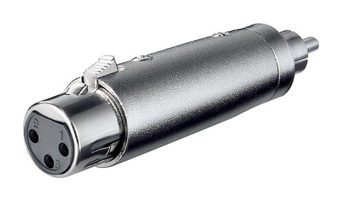 Adapter XLR-hona till RCA-hane