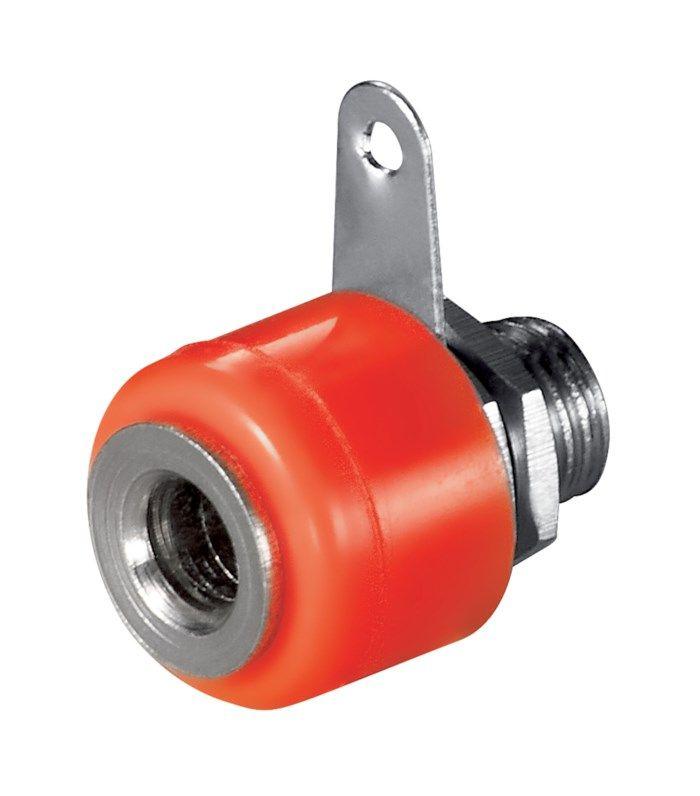 4 mm-labbhylsa för panelmontage Röd
