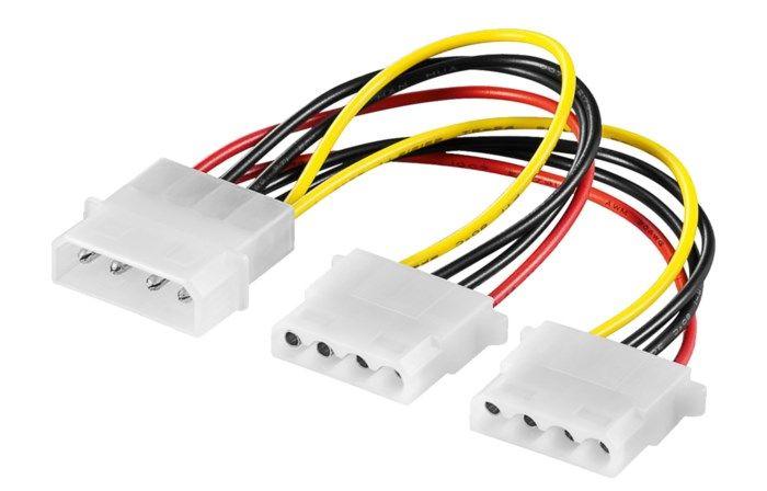 Förgrening 4-pin Molex 2-vägs
