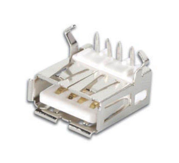 Kretskortskontakt USB-A
