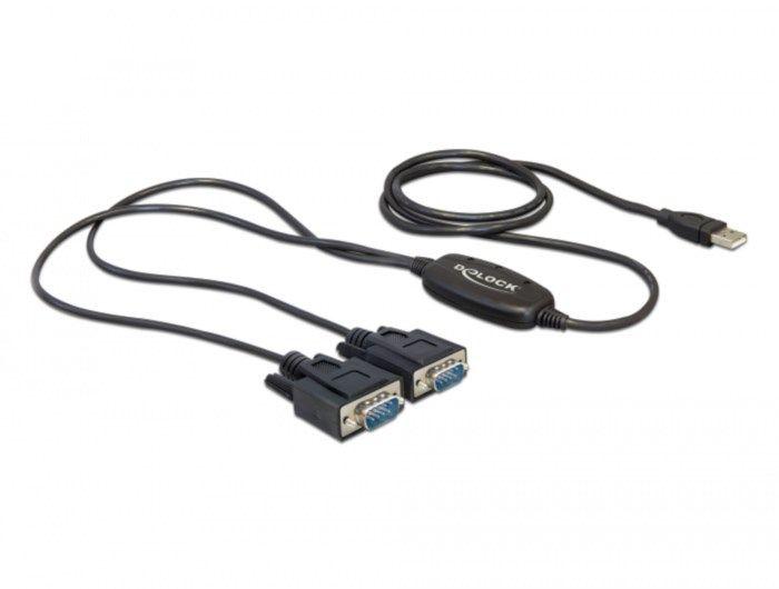Adapter USB till 2x seriell