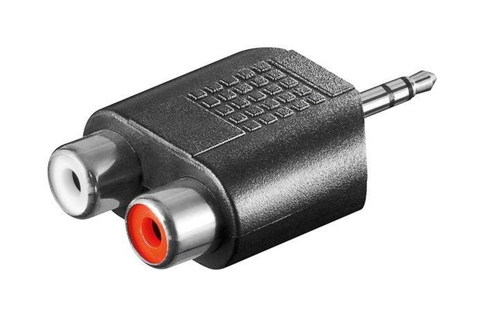 Adapter 3,5 mm till 2x RCA