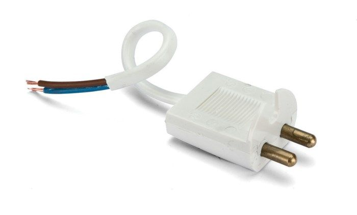 Lamppropp med kabel Ojordad
