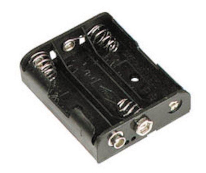 Batterihållare för 3x AA med batterikontakt