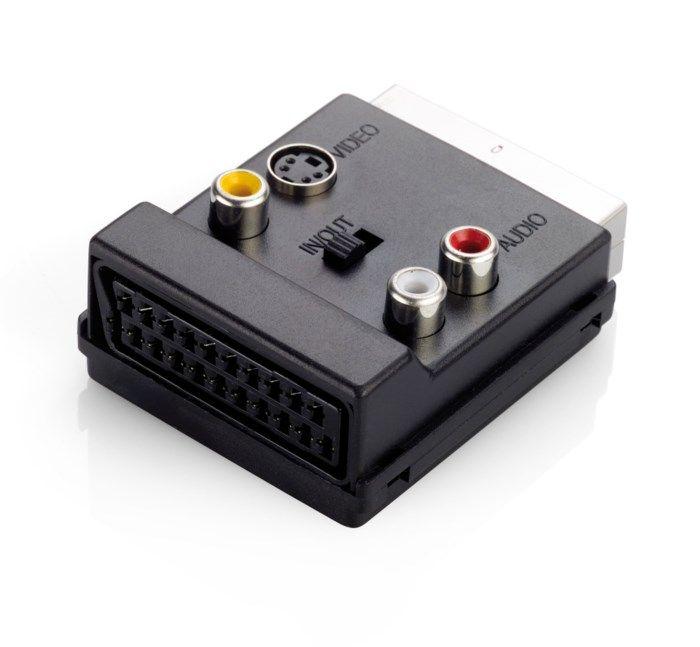 Scart-adapter med avtappning