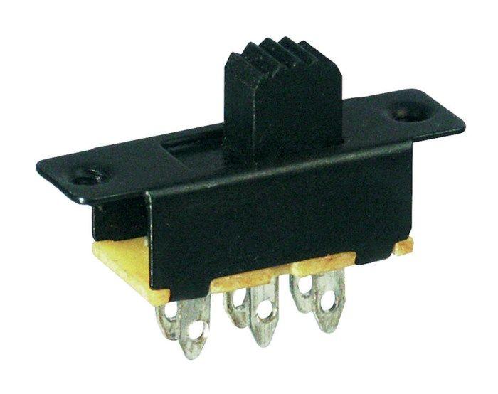 2-polig strömbrytare Till-till 3 A