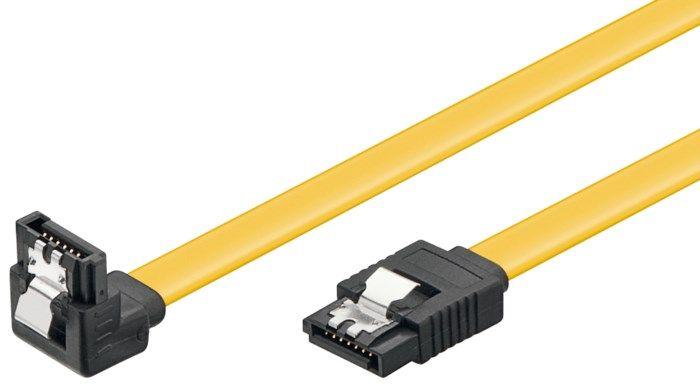 Vinklad Sata 6 Gb/s-kabel med lås 0,2 m