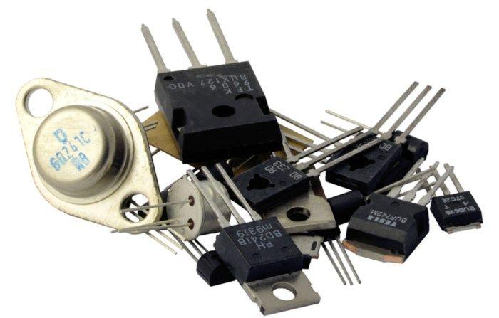 Sortiment med transistorer