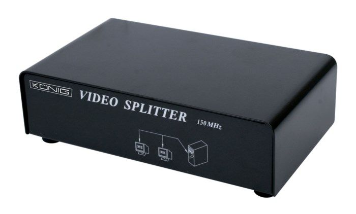 Aktiv VGA-splitter 2 portar