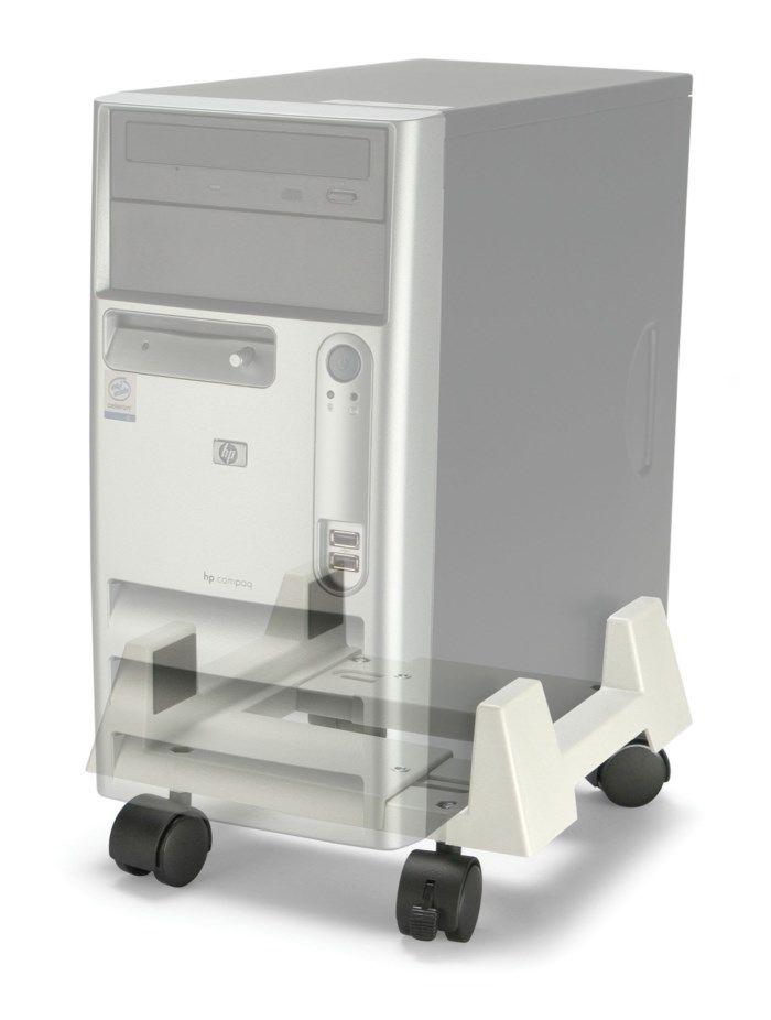 Datorhållare med hjul Grå
