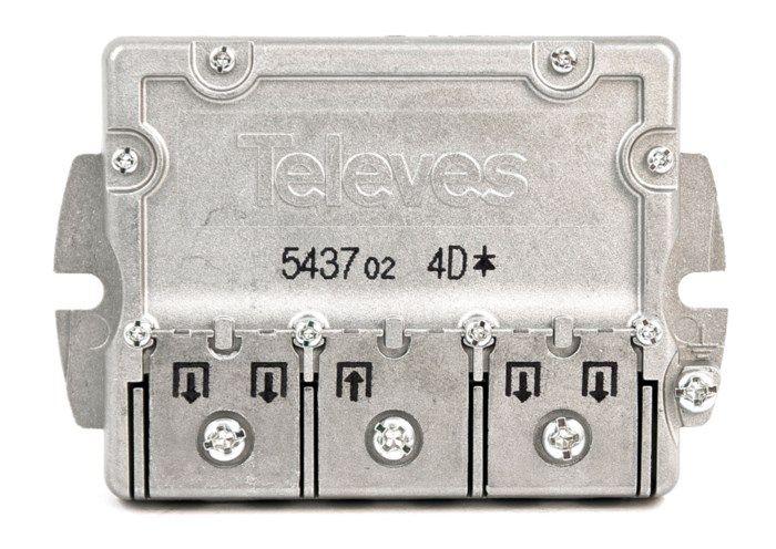 Televes Easy F-splitter med Smart-F 4-vägs