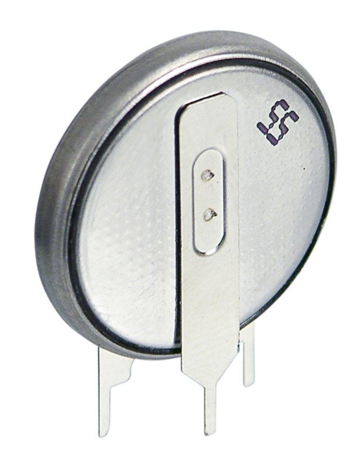 Litiumbatteri CR2032 för kretskort Vertikal