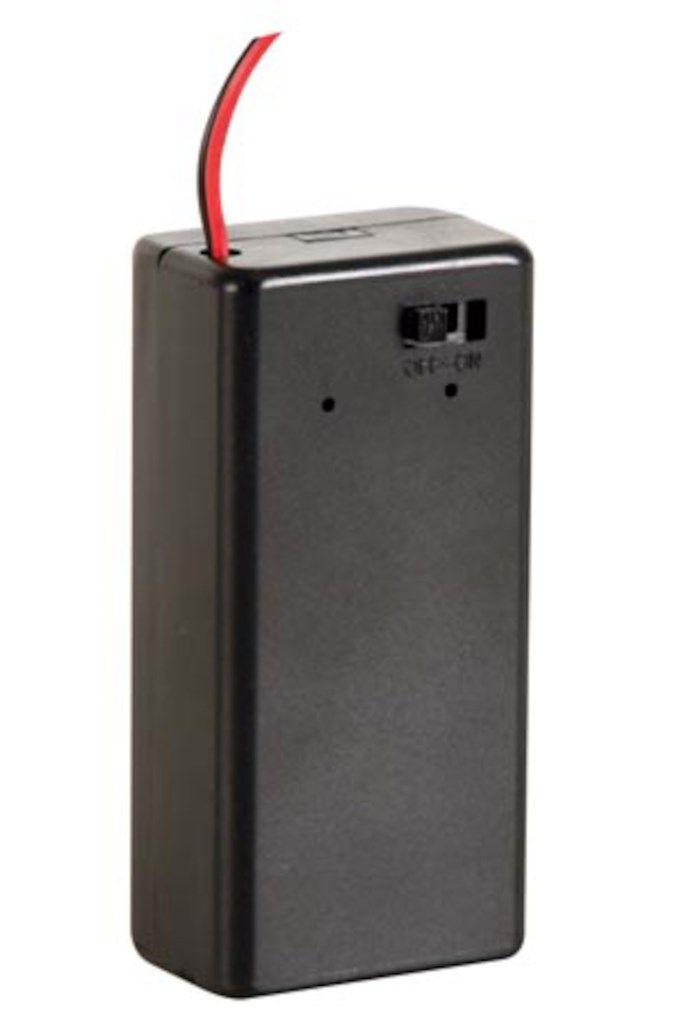Batterihållare med switch för 9 V