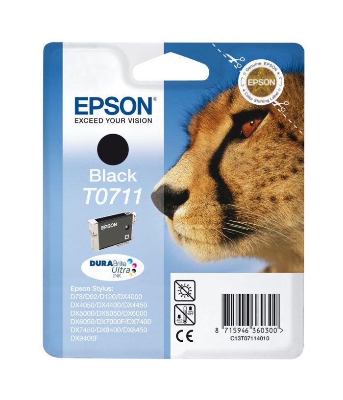 Epson T0711 Bläckpatron Svart