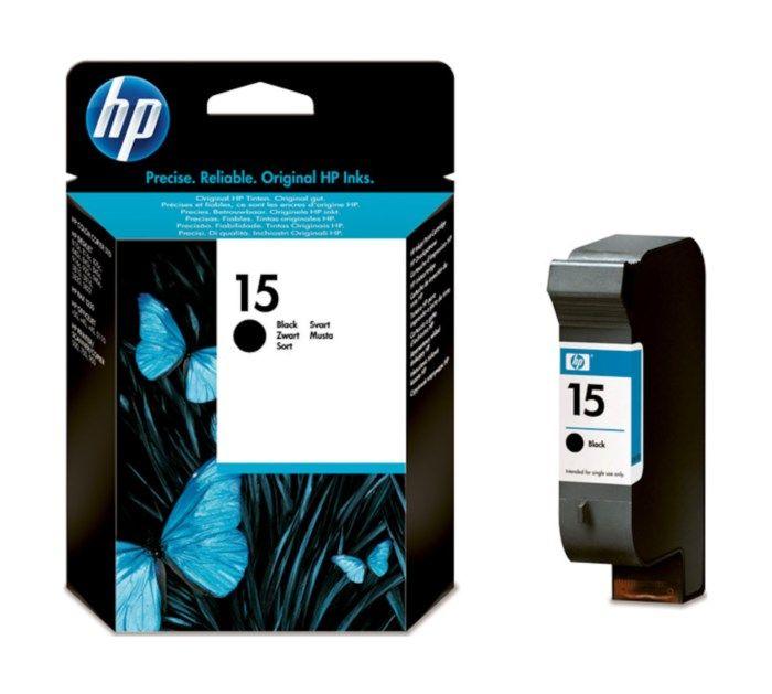 HP 15 Bläckpatron Svart