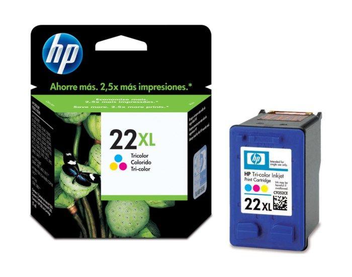 HP 22XL Bläckpatron Flera färger