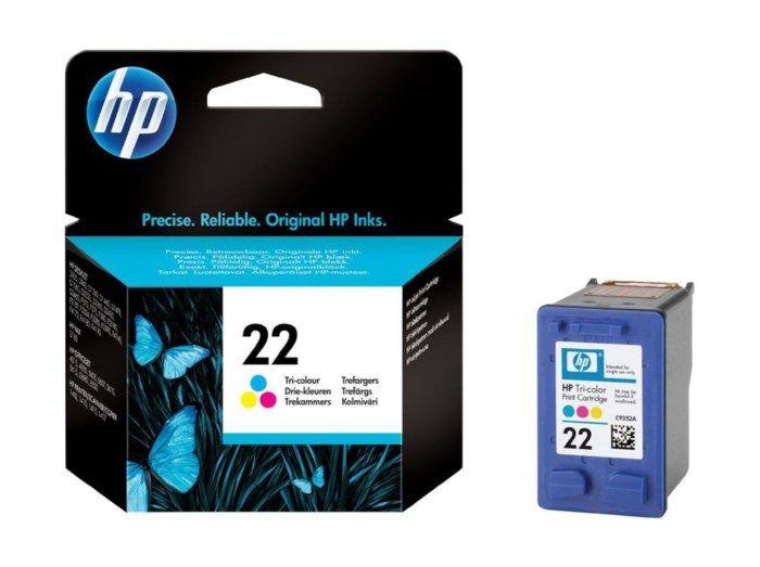 HP 22 Bläckpatron Flera färger