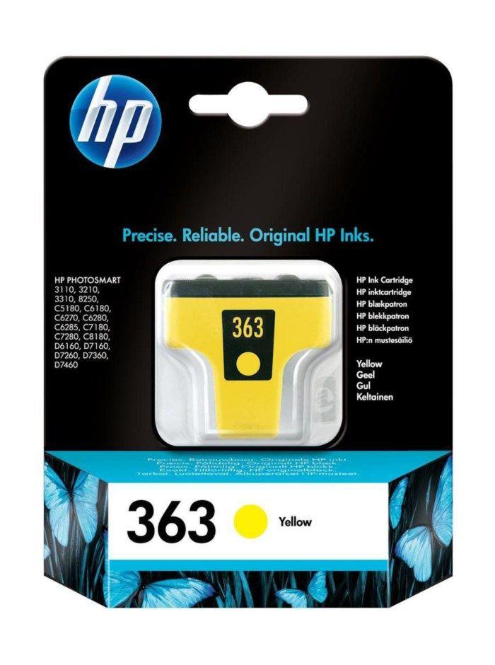 HP 363 Bläckpatron Gul
