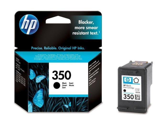 HP 350 Bläckpatron Svart