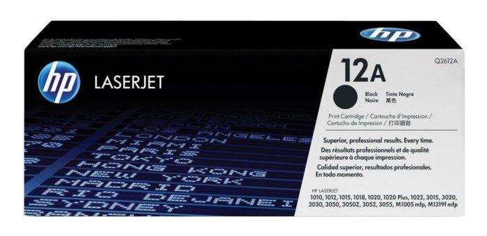 HP Toner 12A Svart