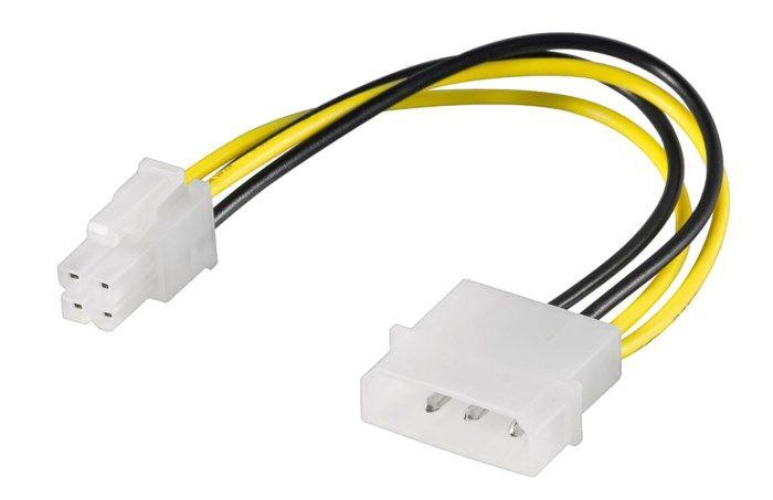 Strömadapter 4-pin Molex till P4