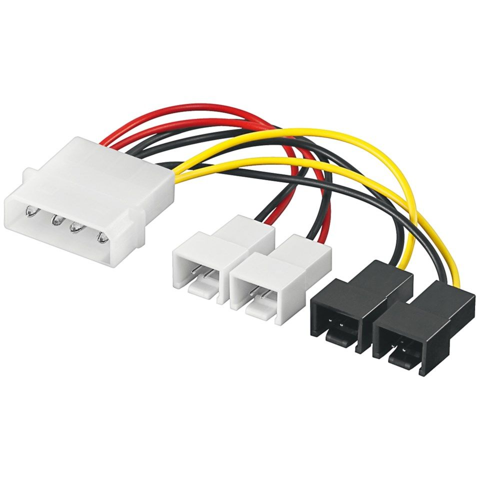 Adapterkabel for vifter, 4-pinners Molex