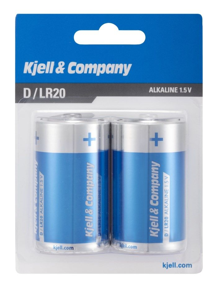 Kjell & Company D-batterier (LR20) 2-pack