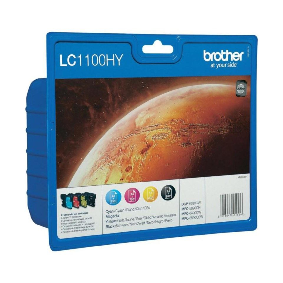 Brother LC1100HY Bläckpatron 4-pack