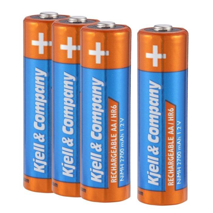 Kjell & Company Laddningsbara AA-batterier 2700 mAh 4-pack