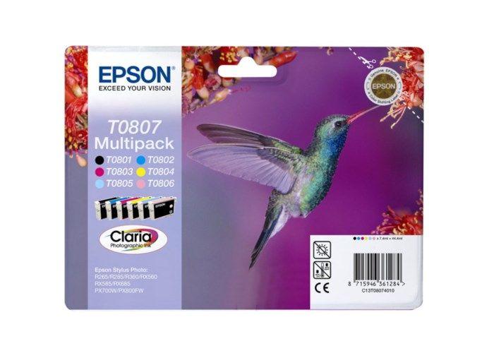 Epson T0807 Bläckpatron 6-pack