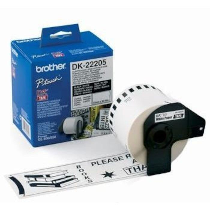 Brother DK-etikettpapper 62 mm DK22205